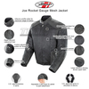 Joe Rocket Gauge Mens Mesh Motorcycle Jacket - Infographics