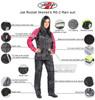 Joe Rocket Women's RS-2 Rain suit - Infographics