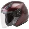 GMax OF17 Open Face Helmet - Wine Red