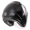 GMax OF17 Open Face Helmet - Black Rear View