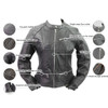 Vance Leather VL618 Women's Black Soft Cowhide Leather Silver Zipper Front Biker Motorcycle Riding Jacket - Infographics