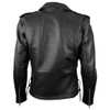 Vance VL515TG Mens Premium Cowhide Conceal Carry Insulated Liner and Side Laces Classic MC Motorcycle Biker Black Leather Jacket - back