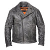 High Mileage HMM517DG Men's Beltless Dual Conceal Carry Distressed Gray Premium Cowhide Leather Biker Motorcycle Jacket