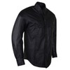 High Mileage HMM504 Men's Concealed Carry Black Premium Cowhide Leather Biker Motorcycle Shirt - Side View