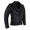 Vance VL516S Black Classic Motorcycle Leather Biker Jacket - Side View