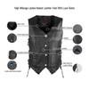 High Mileage HML1040 Womens Black Premium Cowhide Lace Side Biker Leather Vest