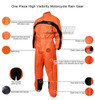 One Piece High Visibility Yellow Motorcycle Rain Gear - Infographics