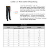 Jafrum LC302 Womens Black Premium Cowhide Low Rise Lady Biker Motorcycle Riding Leather Chaps  - Size Chart