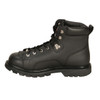 Mens Milwaukee Motorcycle Clothing Company MMCC Night Rider Motorbike Biker Riding Black Leather Boots - Side View