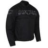 High Mileage HMM1535 Men's Concealed Carry Black Reflective Skulls Textile Motorcycle Jacket - Side View