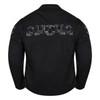 High Mileage HMM1535 Men's Concealed Carry Black Reflective Skulls Textile Motorcycle Jacket - Back View