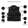 MV720Matt Mens Black SOA Club Style Textile Motorcycle Vest - Infographics