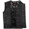 Vance VL919BP Men's Black Premium Cowhide Leather Biker Motorcycle Vest With Quick Access Conceal Carry Pockets and Paisley Liner - Inner View