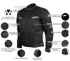 Advanced Vance VL1622HG Mens All Weather Season CE Armor Mesh Motorcycle Jacket - Infographics