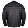 Mens VL531 Leather Motorcycle Jacket - Back View