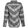 Highway 21 Women's Rogue Flannel Shirt - Grey Back View
