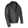 High Mileage HMM517L Men's Dual Conceal Carry Premium Lightweight Goatskin Leather Motorcycle Biker Jacket - Side View