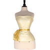 Ladies Faux Leather White and Gold Corset