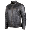 Cortech Idol Mens Motorcycle Leather Jacket - Brown Side View