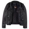 Vance Leather VL615 Women's Black Soft Cowhide Braided and Studded Biker Motorcycle Riding Jacket - Inner View