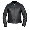 High Mileage HMM544 Men's Advanced Clean Cut Concealed Carry Black Cowhide Leather Scooter Biker Riding Jacket