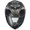 Scorpion EXO-R420 Seismic Helmet - Titanium Top View