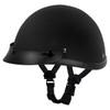 Daytona Novelty Smokey With Snaps Half Helmet - Flat Black