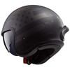 LS2 Spitfire Black Flag Helmet - Rear View