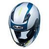HJC CS-R3 Mylo Helmet - White/Blue Top View