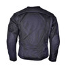 Advanced Vance VL1627 3-Season Mesh/Textile CE Armor Motorcycle Jacket - Back View