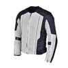 Advanced Vance VL1627 3-Season Mesh/Textile CE Armor Motorcycle Jacket - Black/Silver
