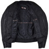 Advanced Vance VL1626 'Velocity' Waterproof 3-Season Mesh/Textile CE Armor Motorcycle Jacket - Inner View