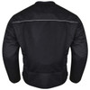 Advanced Vance VL1626 'Velocity' Waterproof 3-Season Mesh/Textile CE Armor Motorcycle Jacket -Back View