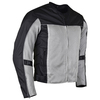 Advanced Vance VL1626 'Velocity' Waterproof 3-Season Mesh/Textile CE Armor Motorcycle Jacket -Silver/Black