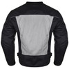 Advanced Vance VL1626 'Velocity' Waterproof 3-Season Mesh/Textile CE Armor Motorcycle Jacket - Back View