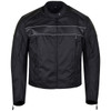 Vance VL1518 Mens Textile Motorcycle Jacket Motorbike Biker Riding Jacket Breathable with CE Armor - Front View