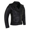 Vance Leather VL616 Ladies Premium Lightweight Goatskin Classic Motorcycle Leather Jacket -Side View