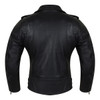 Vance Leather VL616 Ladies Premium Lightweight Goatskin Classic Motorcycle Leather Jacket - Back View