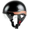 GMax HH 65 Source Naked Half Helmet-Black/Brown-Clear-Shield
