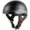 GMax HH 65 Source Naked Half Helmet-Black/Silver
