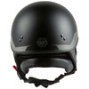 GMax HH 65 Source Naked Half Helmet-Black/Silver-Rear-View