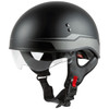 GMax HH 65 Source Naked Half Helmet-Black/Silver-Clear-Shield