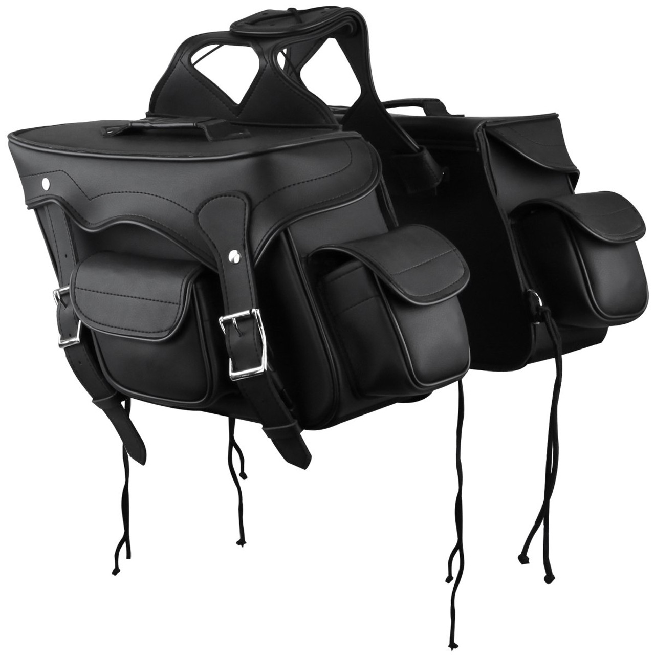 8d020f7a74 Small Double Pocket Plain PVC Motorcycle Saddlebags - Team Motorcycle