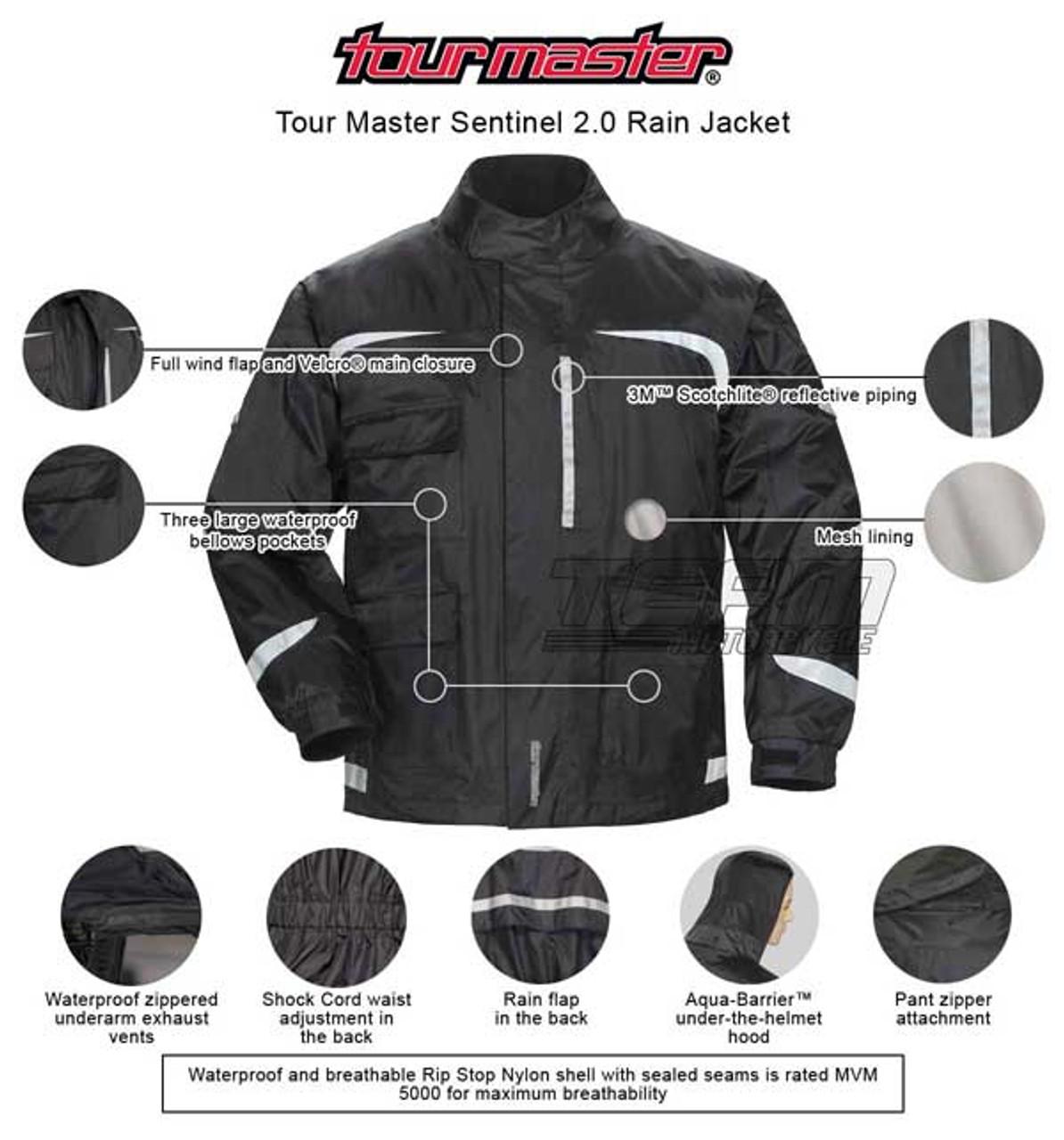 TourMaster Mens Koraza Jacket Black XX-Large