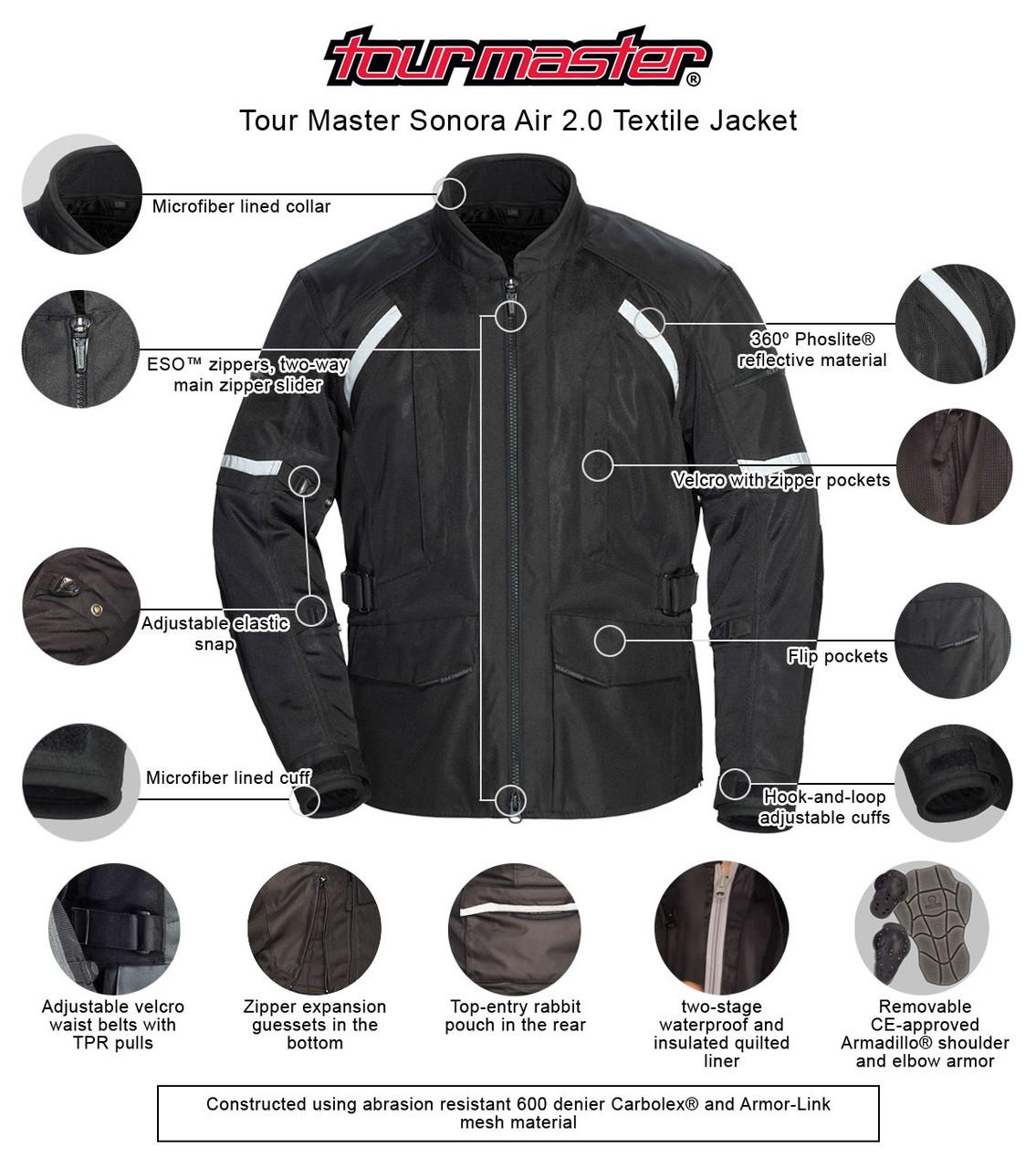 Tourmaster SONORA AIR 2.0 Jacket Black//Hi Viz