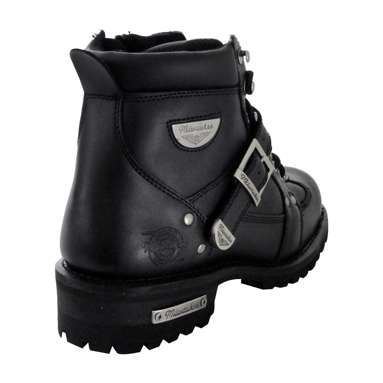 Size 10D Milwaukee Motorcycle Clothing Company Mens Road Captain Motorcycle Boots