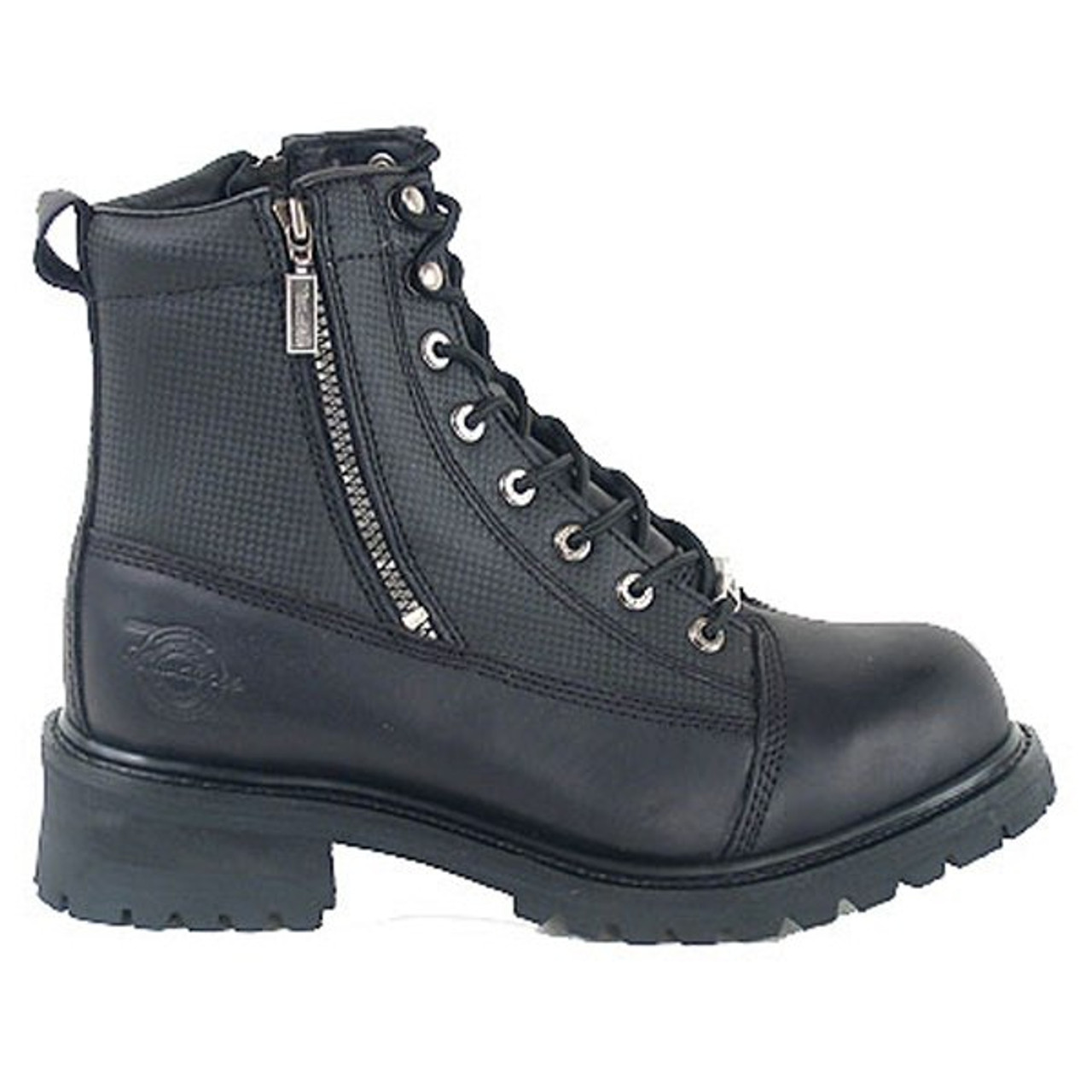 Milwaukee Motorcycle Clothing Company Accelerator Leather Mens Motorcycle Boots Black, Size 8.5EE