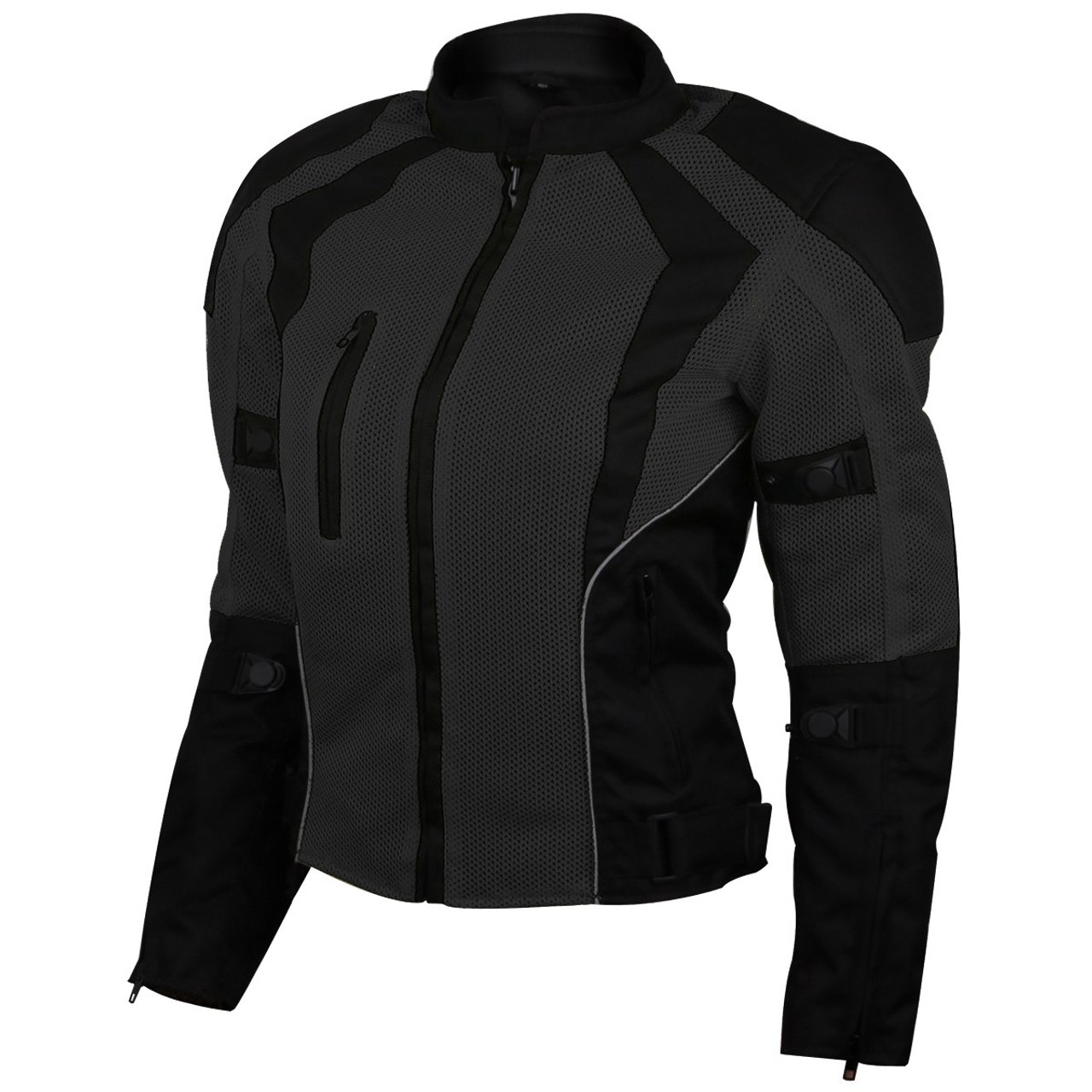 variety of designs and colors for whole family top fashion Womens Advanced 3-Season CE Armor Black Mesh Motorcycle Jacket