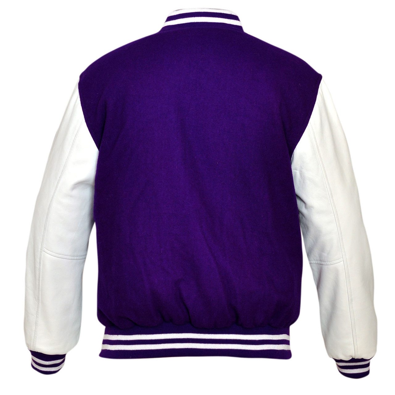 Top quality Red Varsity Letterman  Wool Jacket with  Real Leather Sleeves XS-4XL