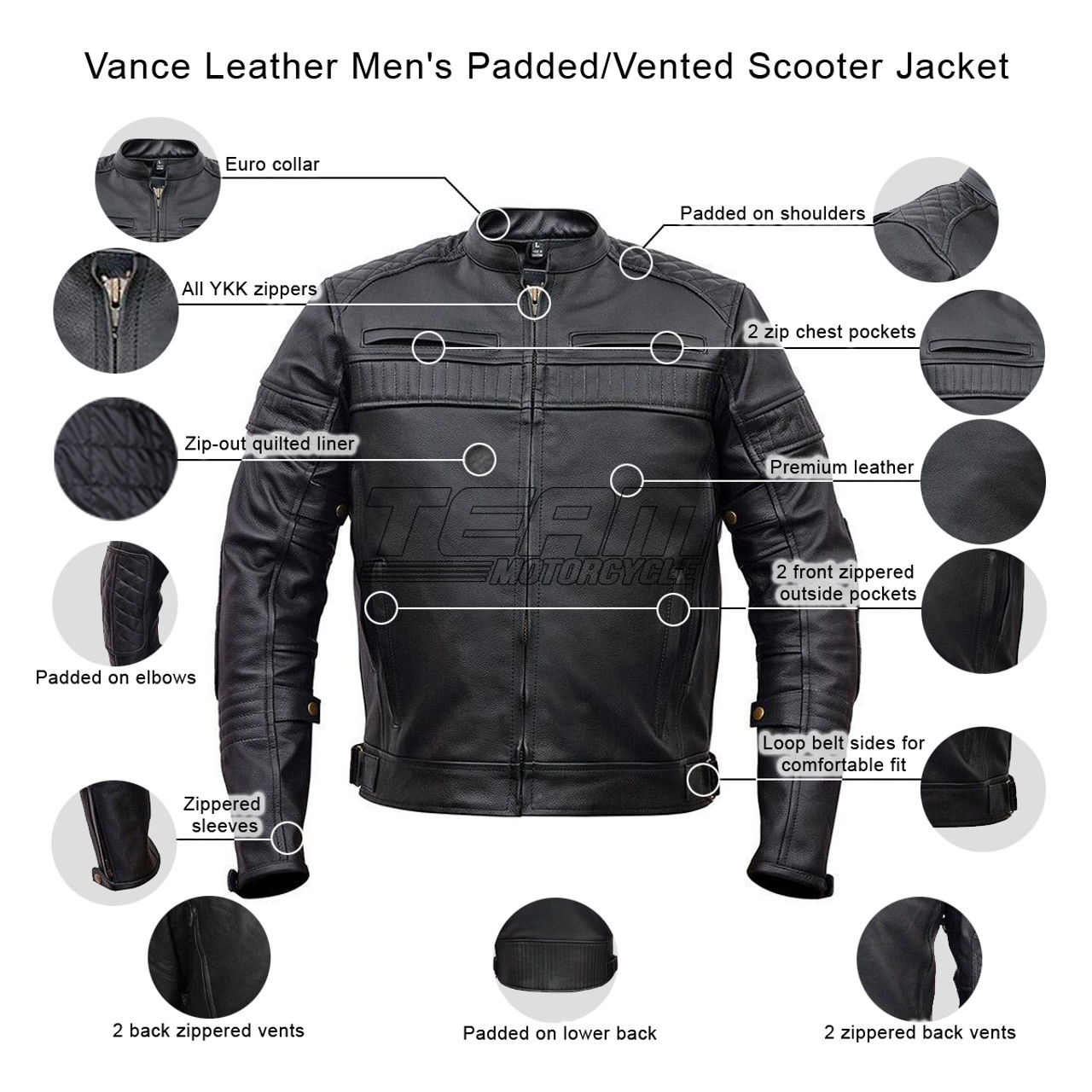2ddb60e59 Men's Padded & Vented Scooter Jacket